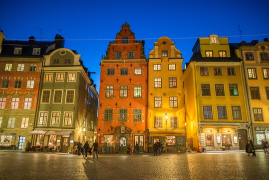 Gamla stan during twilight