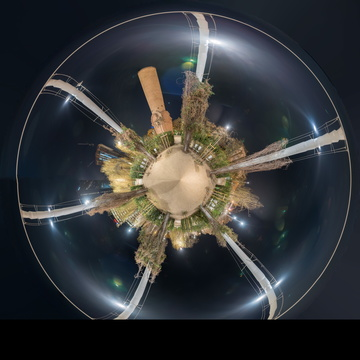 Circle in sphere panorama