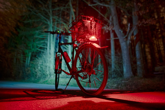 A night bike ride