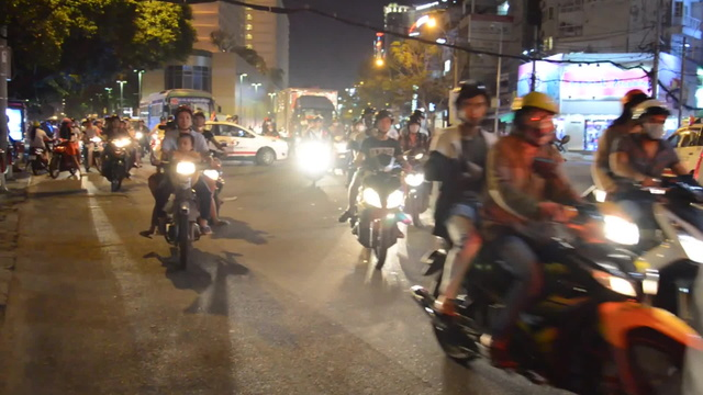 Crossing the street in Vietnam hyperlapse