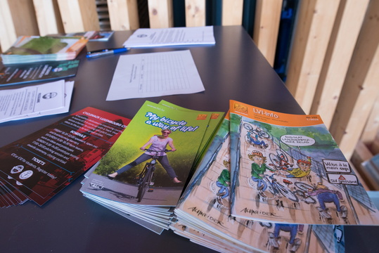 Cycling brochures