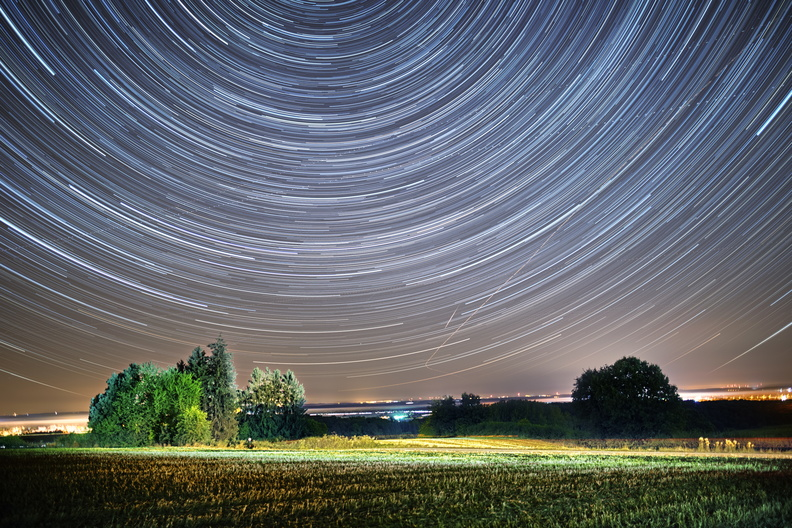 Star trails capture