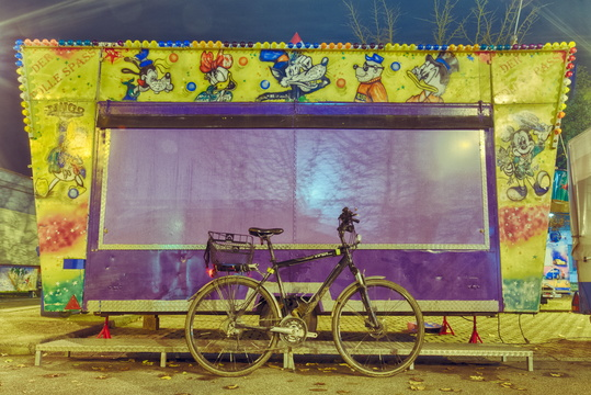 Bike at the funfair