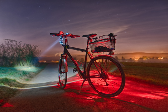 A bike at night