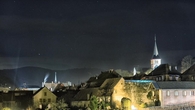 Night lapse in Alsace