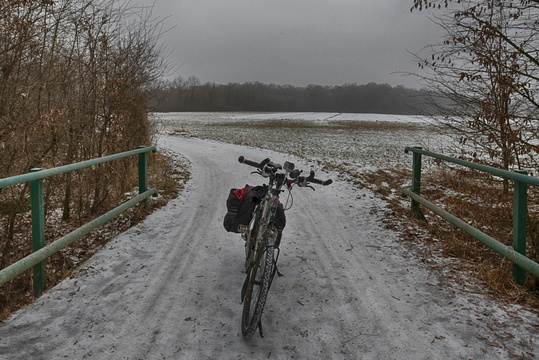 Cycle way in winter