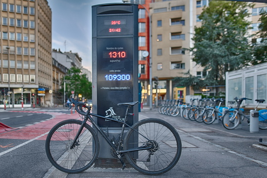 Bike counter and a bike