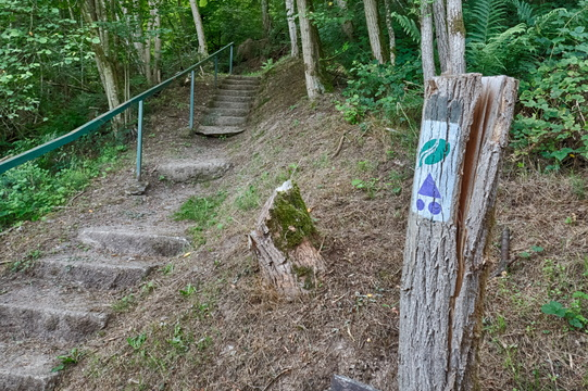 MTB trail on stairs