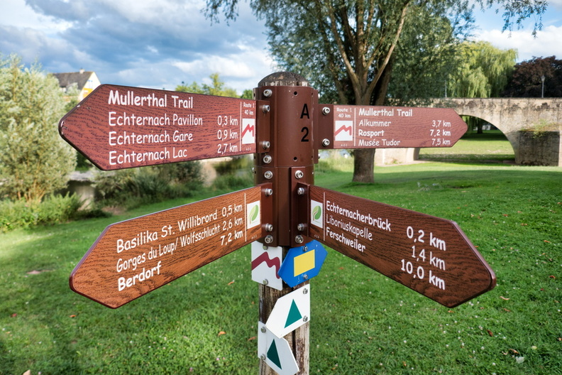 Hiking directions in Echternach