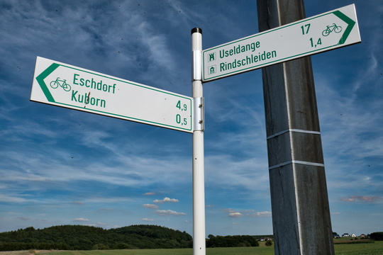 Local cycling route between Rindschleiden and Kuborn