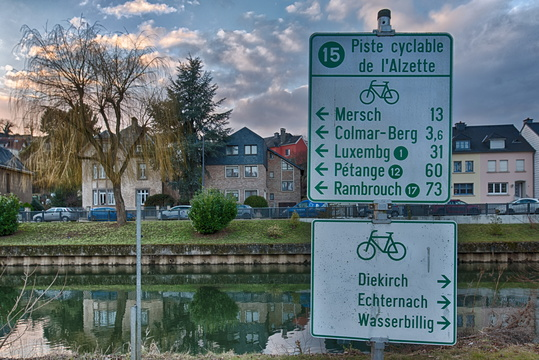 Cycling directions in Ettelbruck