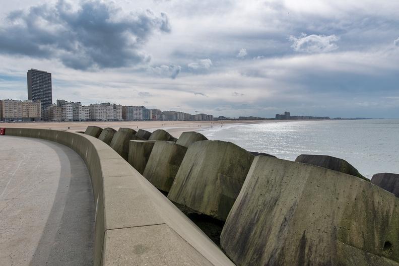 Ostend shoreline