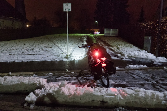 Well done putting the snow blocks on the cycleway access