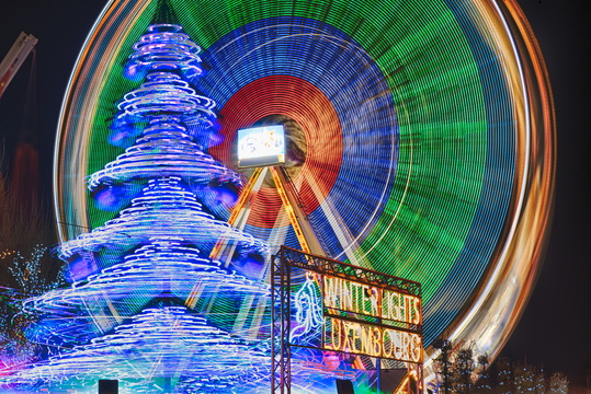 Winterlights' frozen motion