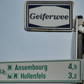 Local cycling route between Ansembourg,  Hollenfels, Tuntange an