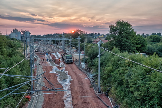 Rail works in Kleinbettingen