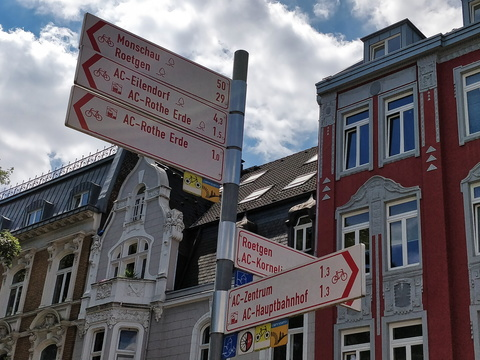 Cycling directions in Aachen
