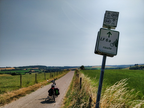 Cycling route between Maastricht and Aachen