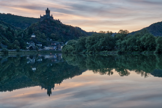 Cochem after sunset
