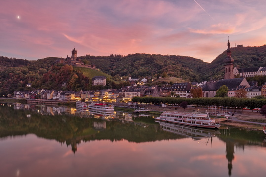 Cochem at twilight