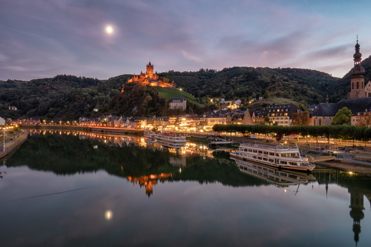 Cochem during twilight