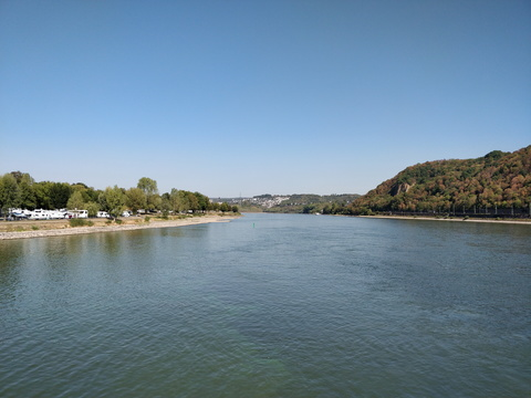 Moselle and Rhine confluence at Deutsches Eck, Koblenz