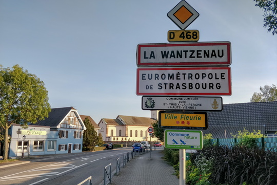Entering Greater Strasbourg area