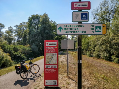 The northeasternmost border of continental France
