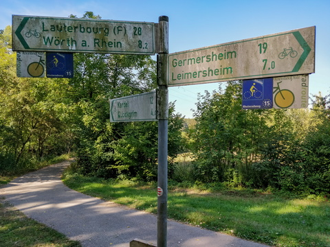 Cycling directions near Wörth