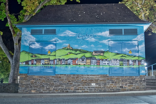 Mural on power substation in Cochem