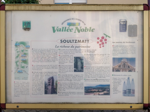 Information board in Soultzmatt