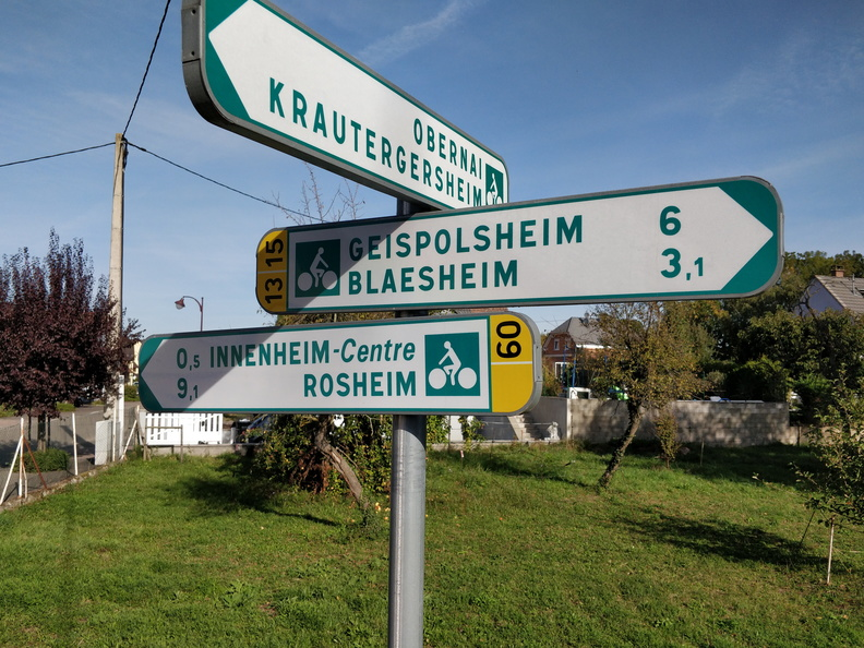 Cycling directions in Innenheim