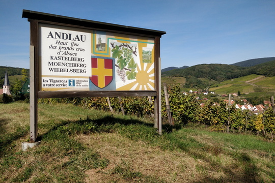 Board near Andlau