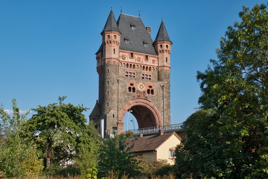 Bridge over the Rhine river in Worms