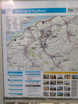 Cycling map near Ingelheim am Rhein