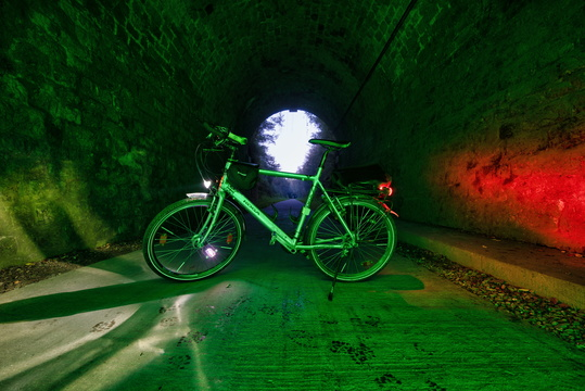 Cycling tunnel between Eischen and Hovelange