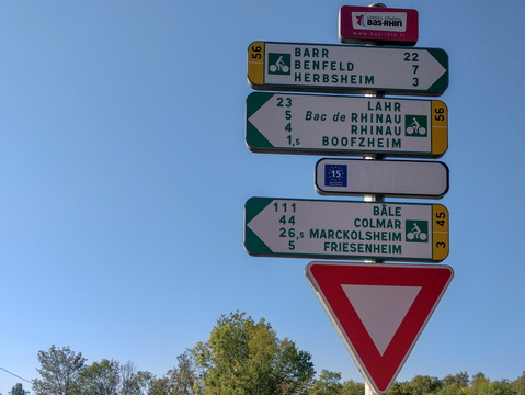 Cycling distance and directions in Boofzheim