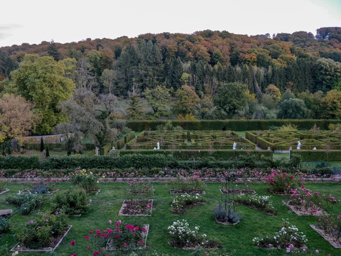 French garden at New Castle of Ansembourg