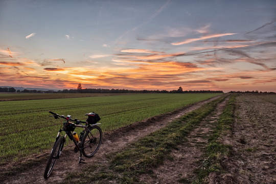 Sunset in the fields between Mamer and Kehlen