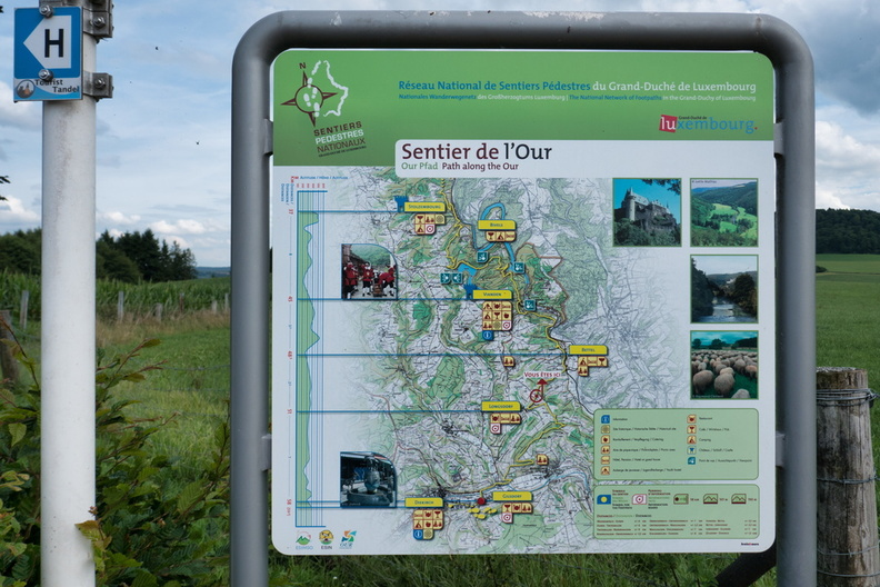Sentier de l'Our information map