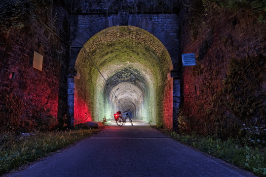 PC 12 Tunnel at night