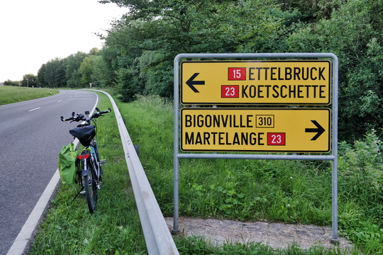 Road directions near Bilsdorf