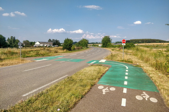 Cycling infrastructure in France (Moselle)
