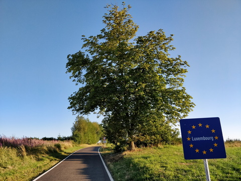 Belgium/Luxembourg border between Wattermal and Hautbellain
