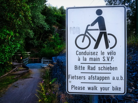 Please walk your bike