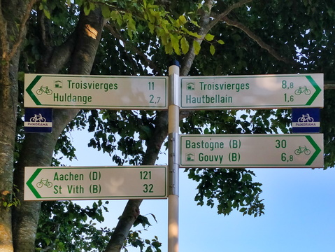 Cycling directions between Hautbellain and Huldange