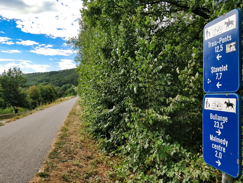 Cycling distances on RAVeL L45