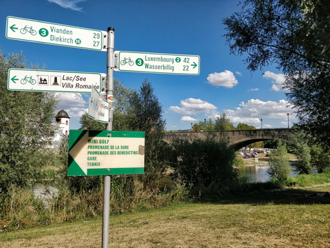 Cycling directions in Echternach