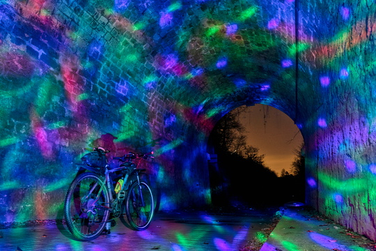 Light painting in Hovelange tunnel