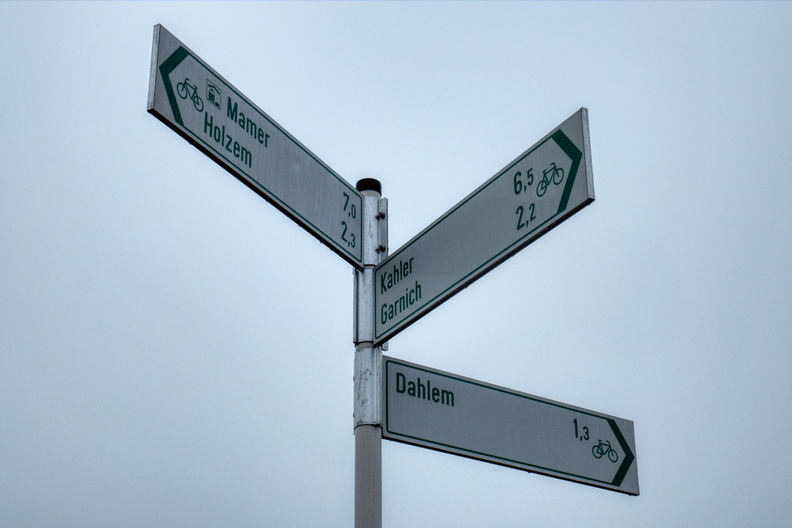 Cycling directions near Dahlem